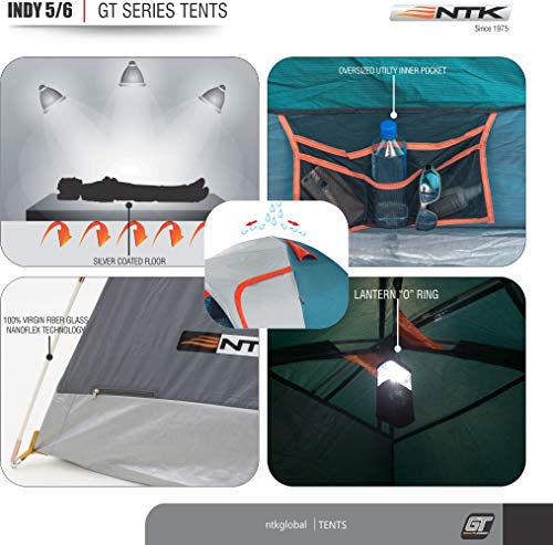 From USA NTK INDY GT 4 to 5 Person 12.2 by 8 Foot Outdoor Dome Family Camping
