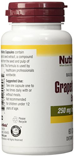 (FROM USA) Nutribiotic Gse Capsules Caps, 250 Mg, 60 Count