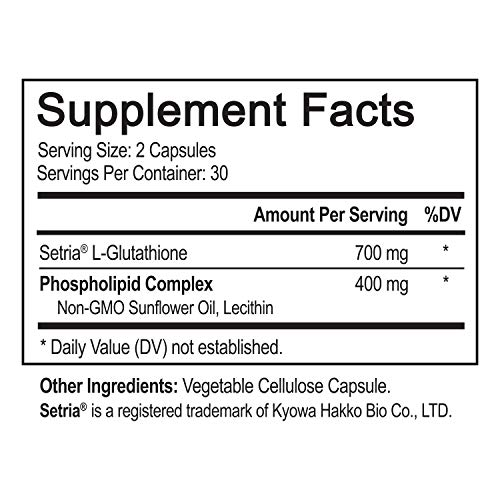 (FROM USA) NutriFlair Liposomal Glutathione Setria® 700mg - Pure Reduced, Sta