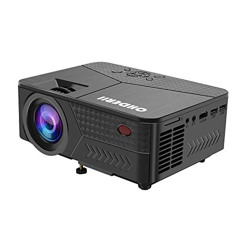 "From USA OHDERII Mini Projector, 1080p Supported Maximum 120 "" Display, C"