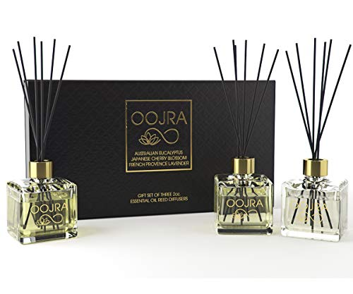 (FROM USA) OOJRA 3 Reed Diffusers Aromatherapy Essential Oil Gift Set; Austral