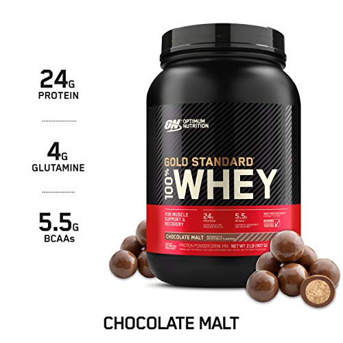 From USA Optimum Nutrition Gold Standard 100% Whey Protein Powder, Chocolate M