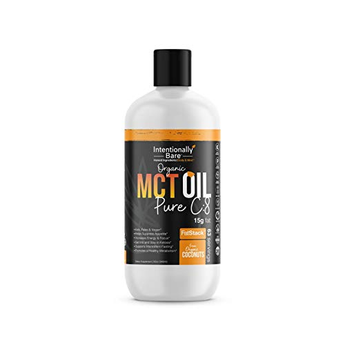 (FROM USA) Organic Pure 99.2% C8 MCT Oil - Keto, Paleo, Brain  & Heart Health