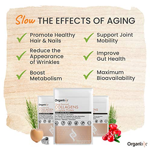 (FROM USA) Organixx - Clean Sourced Collagen Powder - Anti-Aging - Eases Joint