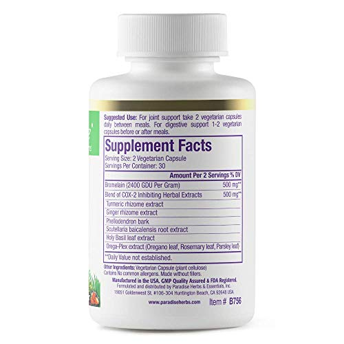 (FROM USA) Paradise Herbs - Bromelain - Joint  & Digestive Formula | Helps Sup
