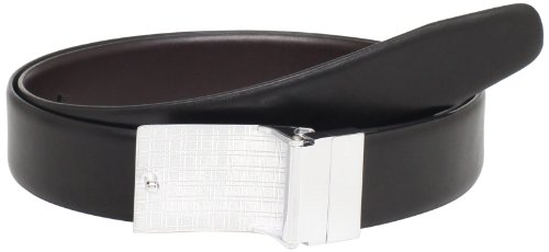(FROM USA) Perry Ellis Men's Coated Plaque Belt