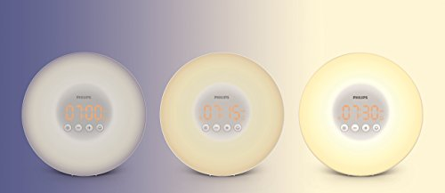 (FROM USA) Philips SmartSleep HF3500/60 Wake-Up Light Therapy Alarm Clock with