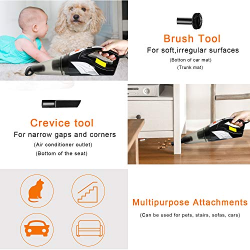 From USA Portable Handheld Vacuum, Meiyou 12000pa High Powerful Corded Hand Va
