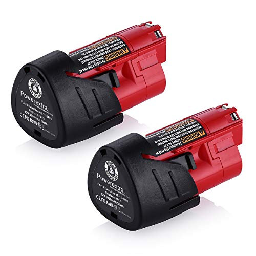 From USA Powerextra 2 Pack 12V 3000mAh Lithium-ion Replacement Battery Compati