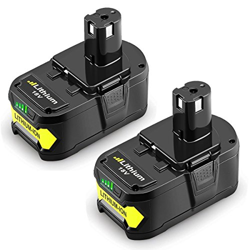 From USA Powilling 2Pack 5.0Ah 18V Replacement Battery for Ryobi 18V Lithium B