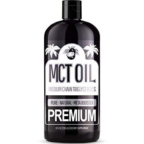 (FROM USA) Premium MCT Oil – (8 Ounce) with C8 and C10 Brain Fuel - Derived