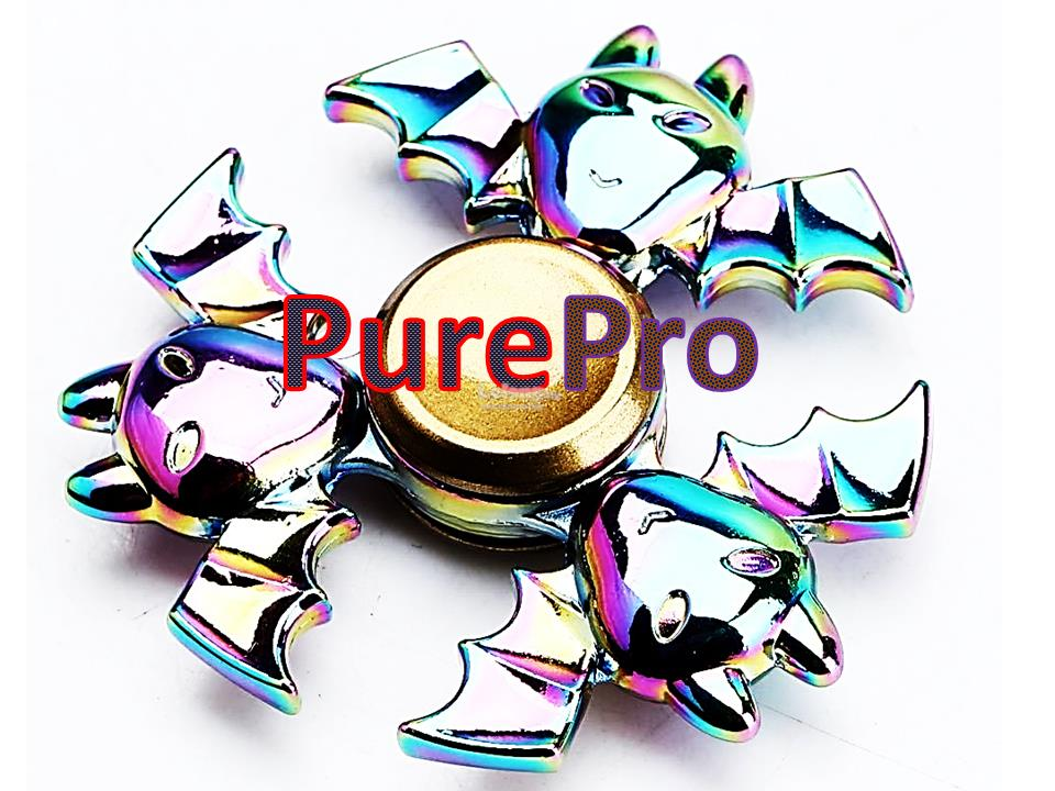 USA Premium Stock Rainbow BATMAN Spinner Fidget Cube Stick Gear Brass