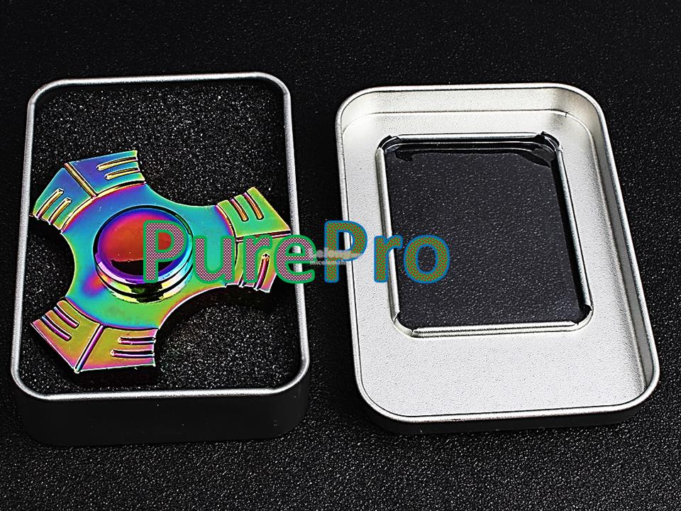 USA Premium Stock Rainbow Triangle Spinner Fidget Cube Stick Gear Bras