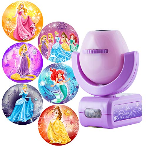 (FROM USA) Projectables Disney Princess 6-Image LED Night Light Projector, Dus
