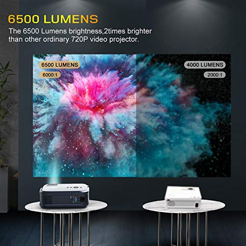From USA Projector Native 1080P LED Video Projector, 6500 Lux Upgrade Full HD