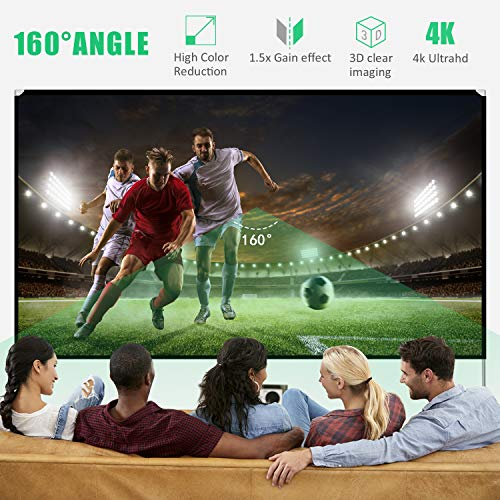 From USA Projector Screen with Stand 100 inch Portable Projection Screen 16:9