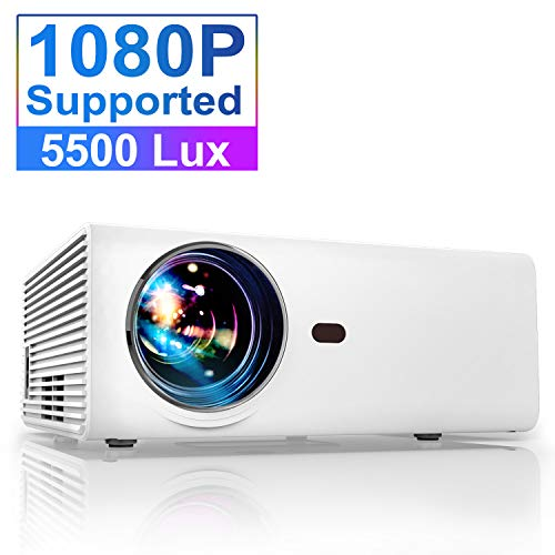 From USA Projector, YABER Portable Projector with 5500LUX 60,000 HRS LED Lamp