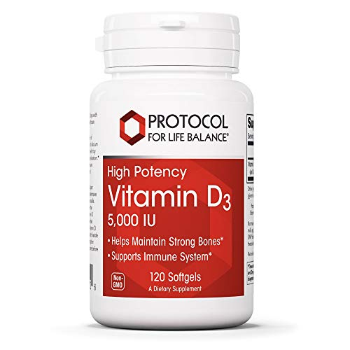 (FROM USA) Protocol For Life Balance - Vitamin D3 5,000 IU - High Potency - Su