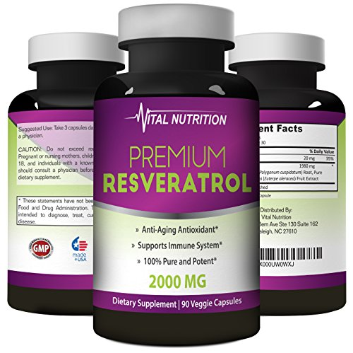 (FROM USA) Pure Resveratrol - 2000mg - Strongest, Most Effective Blend on Amaz