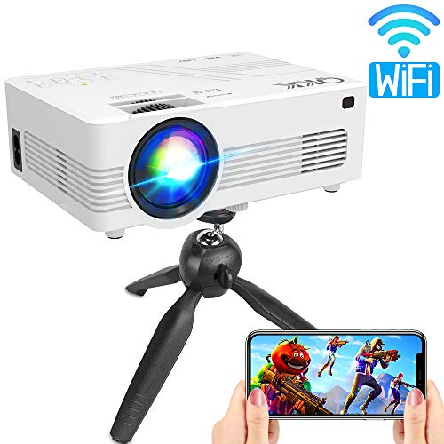 From USA QKK Upgraded 4500Lumens WiFi Projector, Full HD 1080P Supported Mini