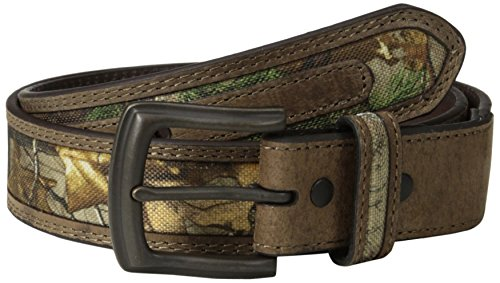 (FROM USA) RealTree Camo Men's Camouflage Belt/tan Leather Trim