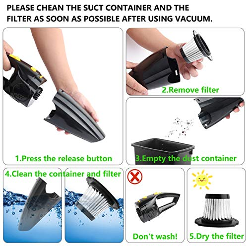 From USA Rechargeable Handheld Pet Hair Vacuum Cleaners, Portable Cordless Vac
