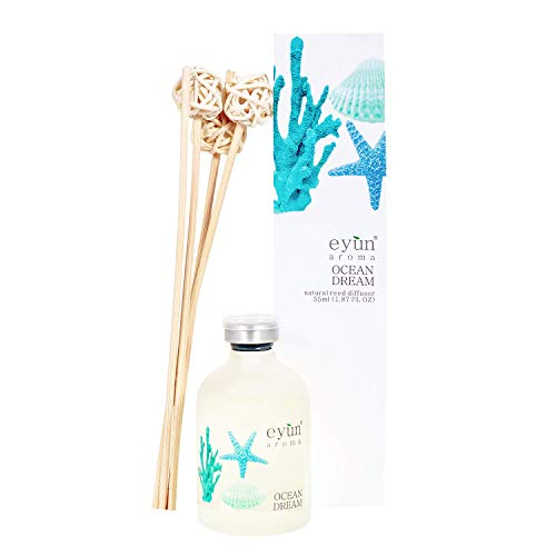 (FROM USA) Reed Diffuser Set Ocean Dream – Home Fragrance Sea – Home Decor