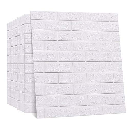 [From USA]Regetek 3D Brick Wallpaper Wall Stickers Peel and Stick Self-Adhesiv