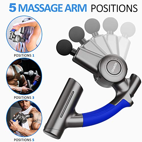 From USA RENPHO R4 Pro Massage Gun with Adjustable Arm, Deep Tissue Percussion
