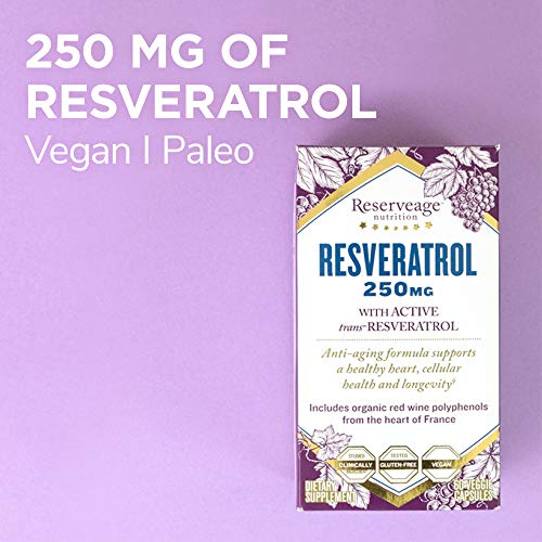 (FROM USA) Reserveage, Resveratrol 250 mg, Antioxidant Supplement for Heart an