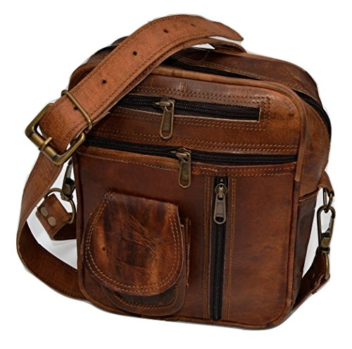 (FROM USA) Reyansh Handicrafts Men's Genuine Leather Shoulder Bag Small Cross