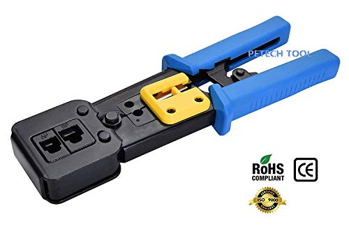 (FROM USA) RJ45 Crimp Tool for Pass through and legacy connectorsProfessional
