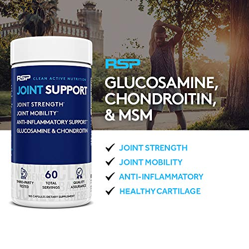 (FROM USA) RSP Glucosamine Chondroitin MSM, Joint Support Supplement for Men a