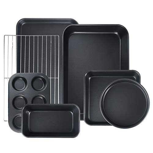 (FROM USA) S·KITCHN Bakeware Set Nonstick Baking Set Including Loaf Pan Pie P