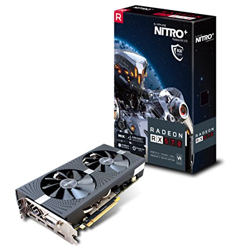 [From USA]Sapphire 11266-09-20G Radeon Nitro+ Rx 570 8GB GDDR5 Dual HDMI/ DVI-