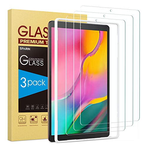 From USA Screen Protector for Galaxy Tab A 10.1 2019, [3-Pack] SPARIN 9H Hardn