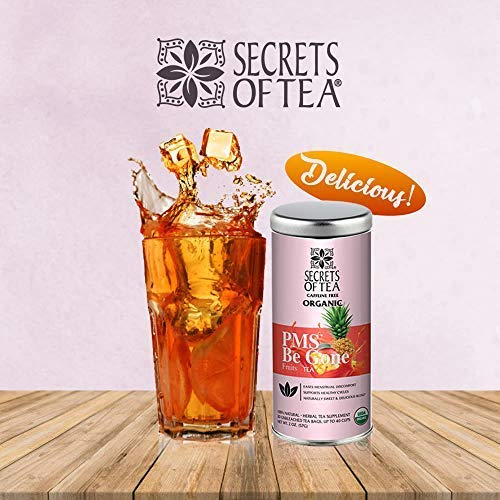 (FROM USA) Secrets of Tea PMS BE Gone Fruit Tea: PMS Relief Tea USDA Organic L