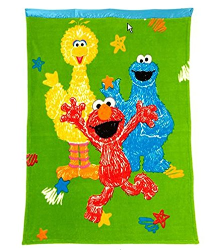 [From USA]Sesame Street Toddler Blanket - Elmo  & Friends