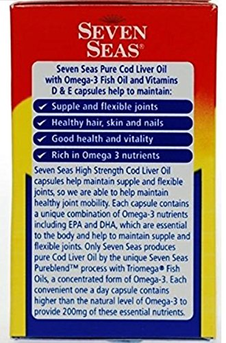 (FROM USA) Seven Seas Cod Liver Fish Oil 500 Capsules