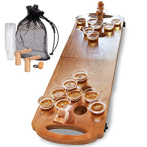 [From USA]SHARPER IMAGE Mini Beer Pong Tabletop Table 25 Cups and Balls Set wi