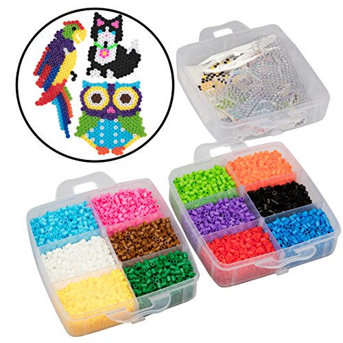 [USA Shipping]8000pc Fuse Bead Super Kit w/Animal Pegboards and Templates - 12