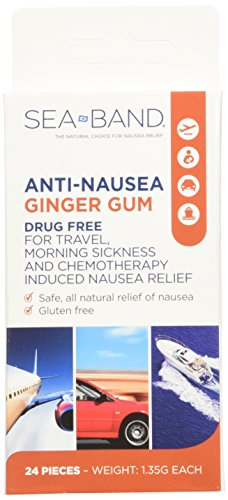 [USA shipping]Anti-Nausea Ginger Gum 24 Count (Pack of 3)