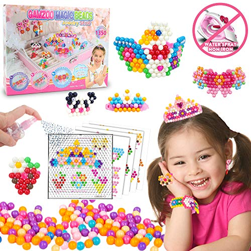 [USA Shipping]GAMZOO Magic Beads Kids DIY No Iron Water Fuse Beads with Pegboa