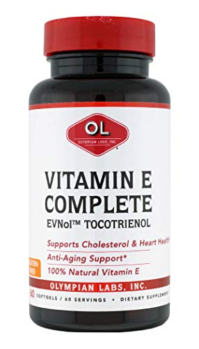 [USA shipping]Olympian Labs Tocomin Tocotrienol Vitamin E Complete 60 Softgels