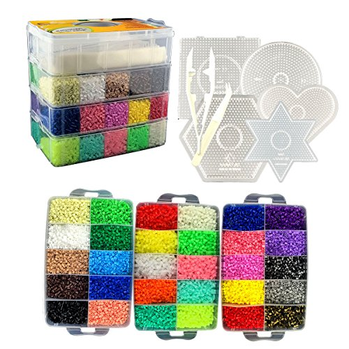 [USA Shipping]Little Visionary 30000 Fuse Beads - Deluxe Hama Bead Kit Include