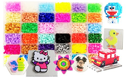 [USA Shipping]Vytung Fuse Beads Kit-10000 pcs 36 Colors(6 Glow in Dark) 5Peg B