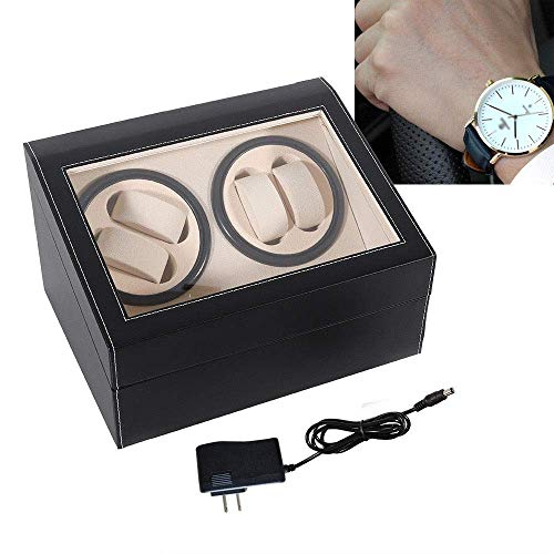 From USA SHZICMY Automatic Watch Winder Display Box, 4+6 Automatic Rotation Le