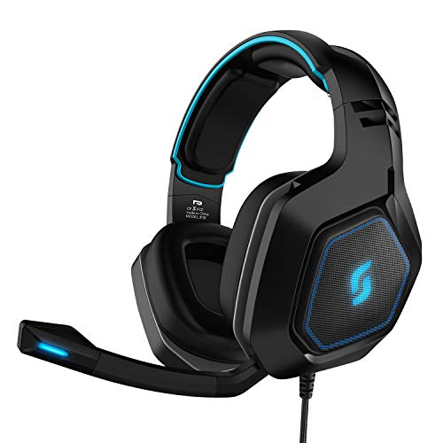 From USA Sliq Gaming Scorpio Stereo Sound 50mm Gaming Headset/Headphone with M