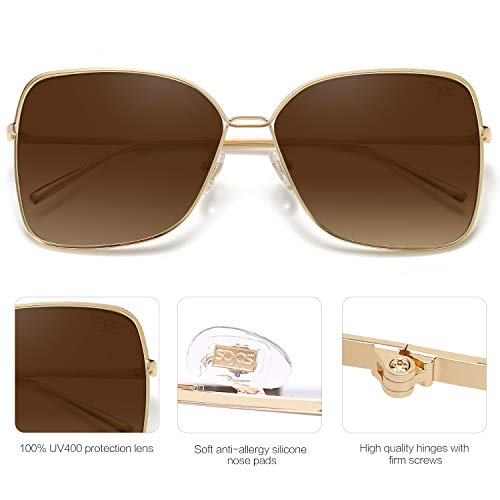 From USA SOJOS Fashion Designer Square Sunglasses for Women Flat Mirrored Lens