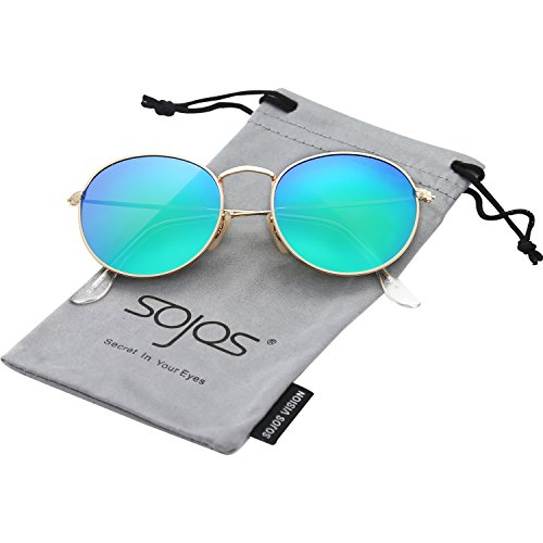 From USA SOJOS Polarized Sunglasses Classic Small Round Metal Frame for Women